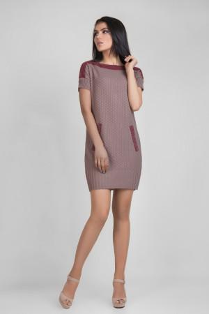 Платье-туника «Дороти» цвета пепельной розы