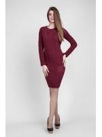 Платье «Шебби» бордового цвета