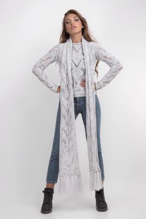 Джемпер з шарфом «Бук» світло-сірого кольору