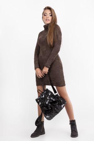 Платье «Пенелопа» коричневого цвета