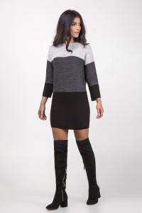 Платье «Лаура» серого цвета