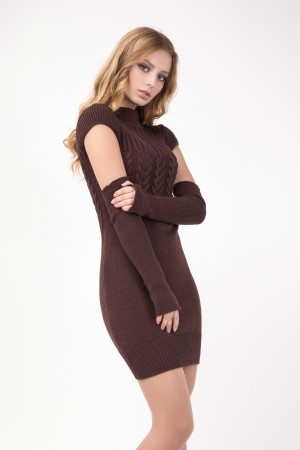 Платье «Кэтлин» коричневого цвета
