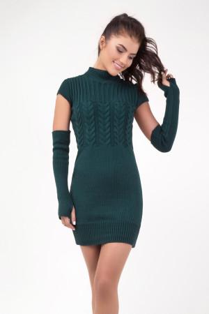 Платье «Кэтлин» темно-зеленого цвета