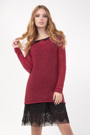 Платье «Хизер» бордового цвета