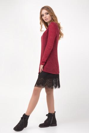 Сукня «Хізер» бордового кольору