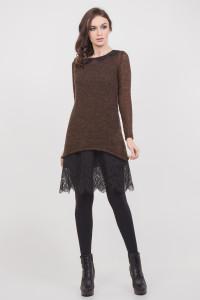 Платье «Хизер» коричневого цвета