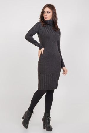 Платье «Мэрайя» темно-серого цвета