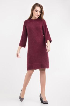 Платье «Карен» цвета марсала
