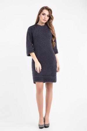 Платье «Карен» темно-серого цвета