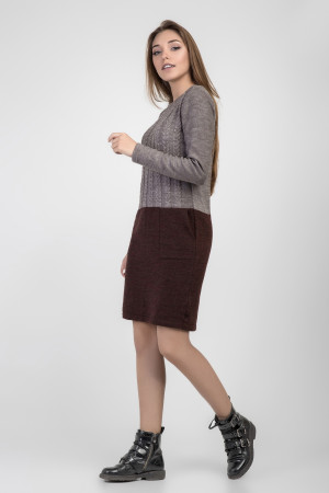 Платье «Александра» коричневого цвета