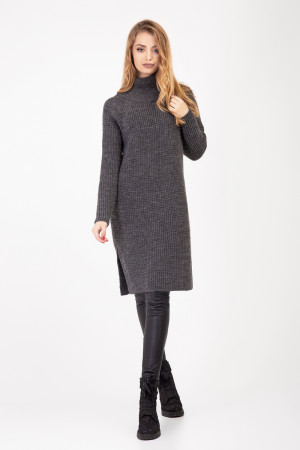 Платье-туника «Амаль» темно-серого цвета