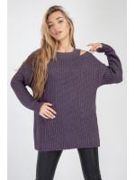 Джемпер «Юка» фиолетового цвета