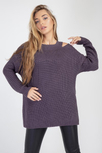 Джемпер «Юка» фіолетового кольору
