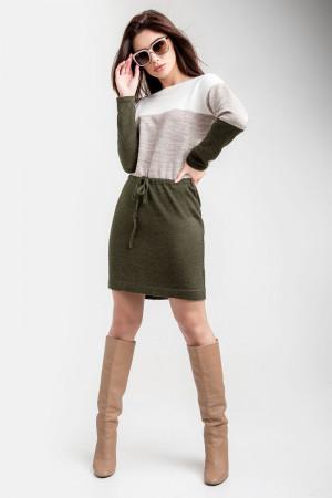 Сукня «Мія» кольору хакі з лляним