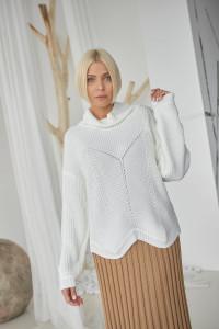 Джемпер «Анелі» білого кольору