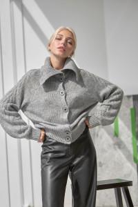 Кардиган «Лорет» серого цвета