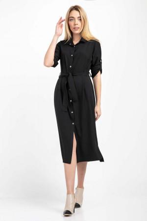 Платье-рубашка «Айвен» черного цвета