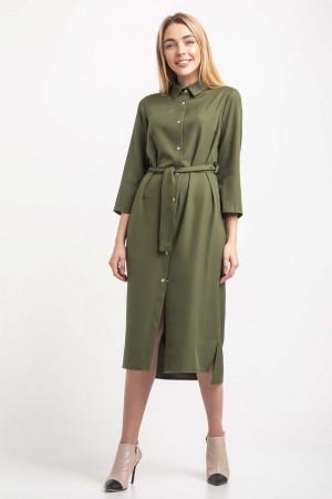Платье-рубашка «Айвен» цвета хаки