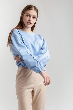 Блузон «Тринти» голубого цвета