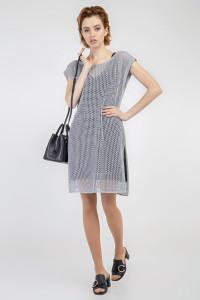 Комплект джемпер и платье «Мишель» серого цвета
