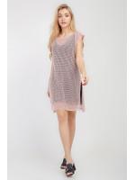 Комплект джемпер и платье «Мишель» розового цвета