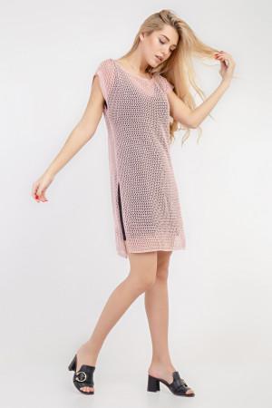 Комплект джемпер і сукня «Мішель» рожевого кольору