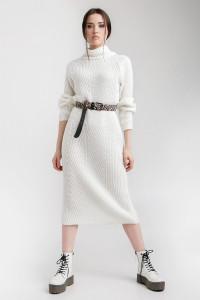 Платье «Ирбис» молочного цвета