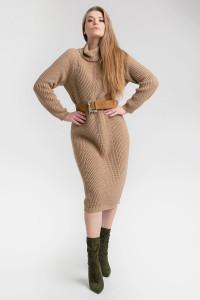 Платье «Ирбис» песочного цвета