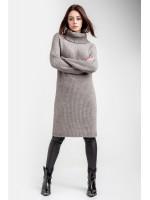 Платье-свитер «Коган» серо-бежевого цвета