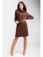 Платье-свитер «Коган» кирпичного цвета