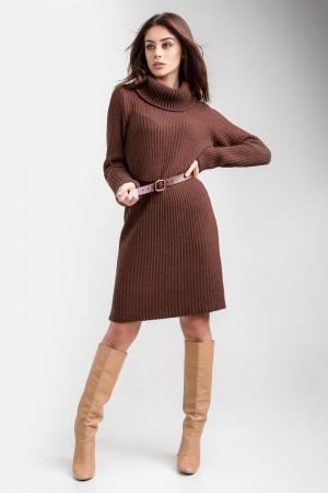 Сукня-светр «Коган» цегляного кольору