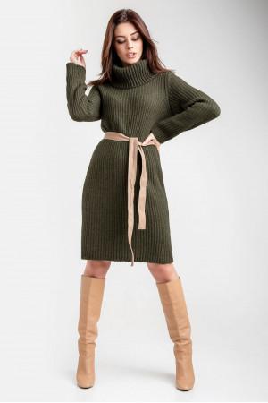 Сукня-светр «Коган» кольору хакі
