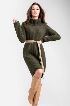 Платье-свитер «Коган» цвета хаки