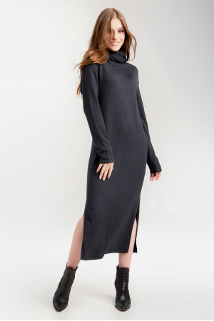 Платье «Марута» черно-синего цвета