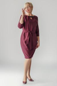 Платье «Рэйвен» бордового цвета