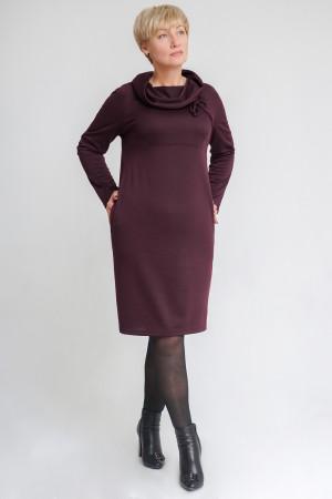 Платье «Камира» бордового цвета