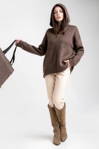 Вязаная куртка «Дара» бронзового цвета
