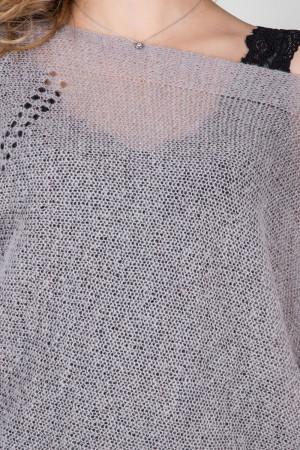 Комплект джемпер та топ «Алеро» бежево-сірого кольору