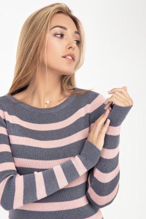 Сукня «Ларго» сірого кольору з рожевим