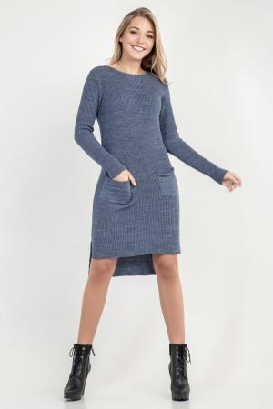 Сукня-туніка «Асіметріко» сіро-синього кольору