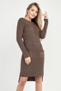 Сукня-туніка «Асіметріко» бронзового кольору