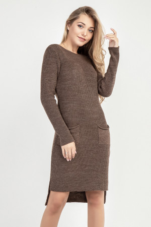 Платье-туника «Асиметрико» бронзового цвета