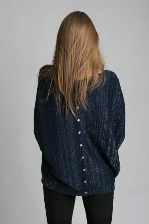 Пончо «Мантелла» темно-синего цвета