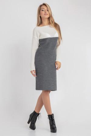 Платье «Сильвия» темно-серого цвета