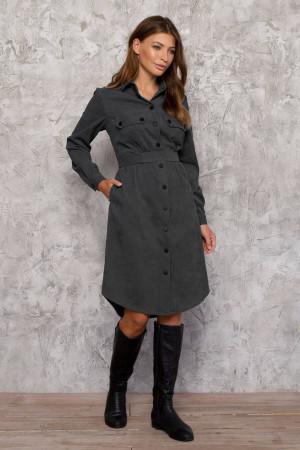 Платье «Таска» серого цвета