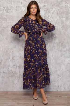 Платье «Люция» синего цвета