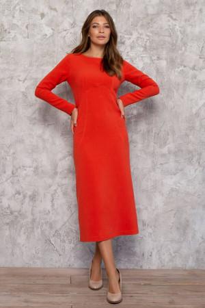 Платье «Мэмми» морковного цвета