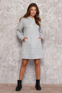 Платье «Брайт» серого цвета
