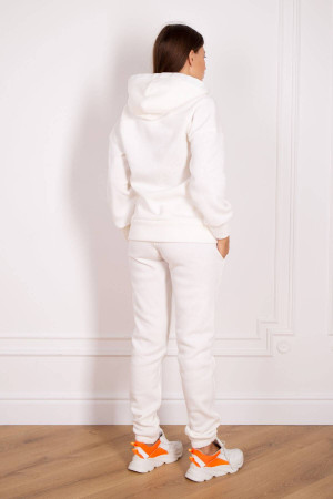 Спортивний костюм «Стефа» білого кольору