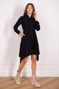 Платье «Габрыся» черного цвета